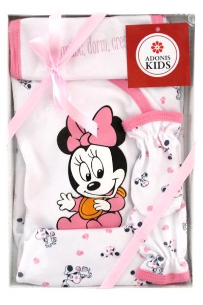 Caseta cadou 5 piese roz baby mouse