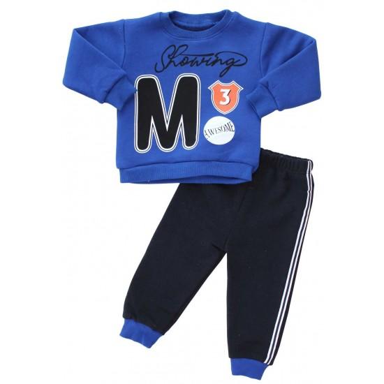 compleu bebe bumbac albastru M