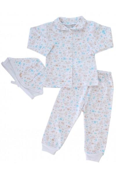 compleu pijamale ursuleti maro
