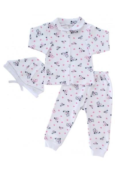 compleu pijamale catel roz