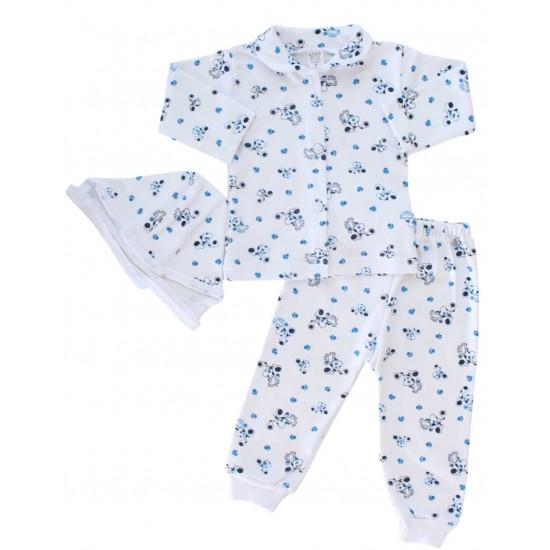compleu pijamale catel albastru