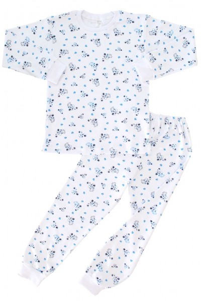 pijamale copii bumbac catel albastru