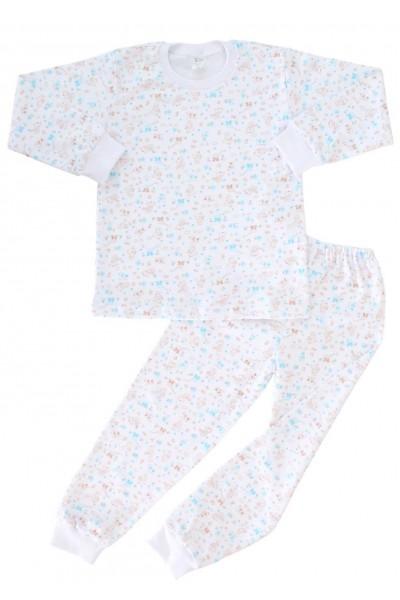 pijamale copii ursuleti maro