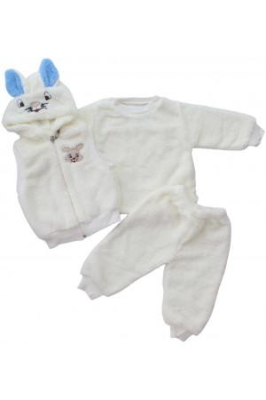 compleu cocolino bebe alb iepuras