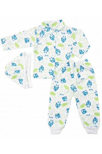 compleu pijama bumbac subtire azuga tweeti verde