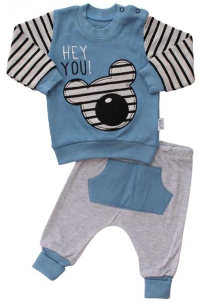 compleu bebe bumbac bleu hey mouse