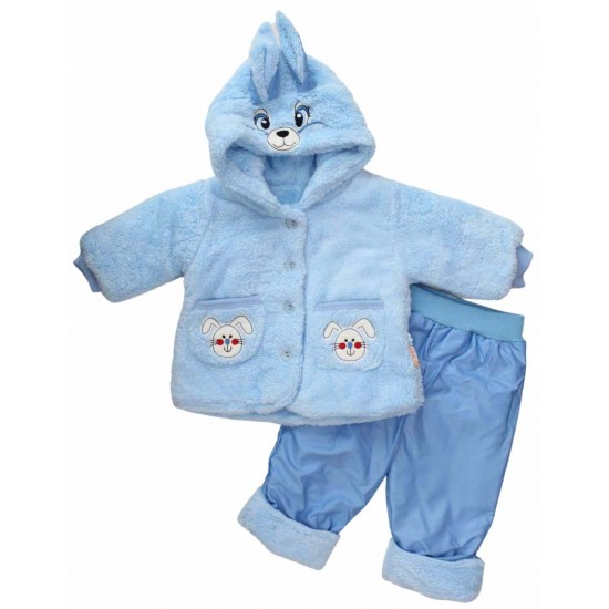 compleu bebe cocolino bleu iepuras