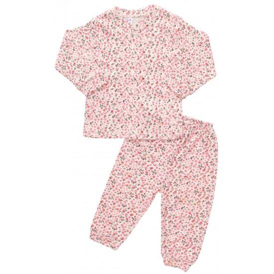 compleu pijamale floricele