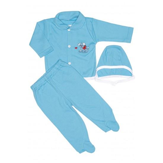 Costumas ewelin trei piese bleu