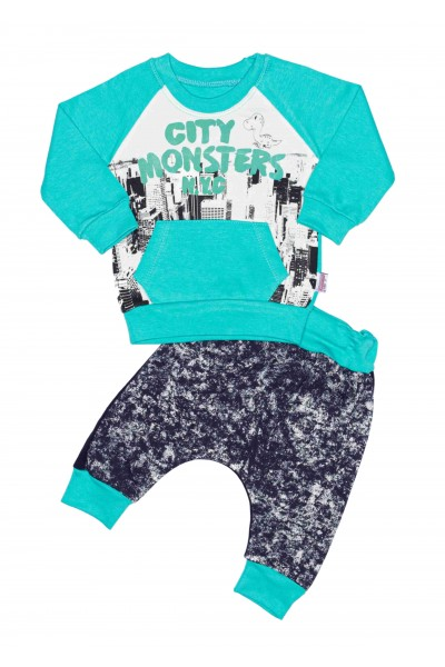 Costum copii minitix city monsters vernil