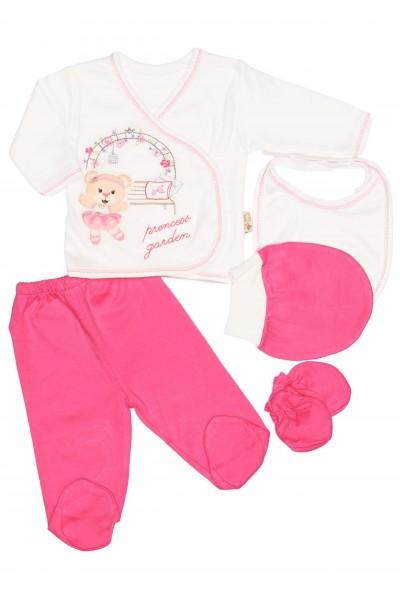 Compleu cinci piese mini teti princess garden roz cyclame