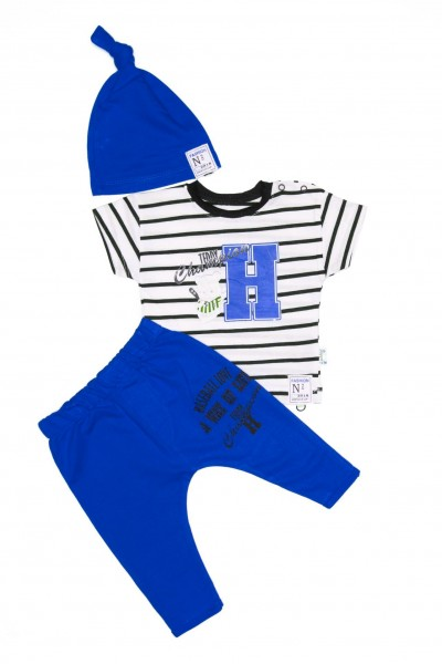 Costum copii trei piese hippil albastru