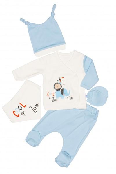 Compleu bebe cinci piese cool zoo bleu