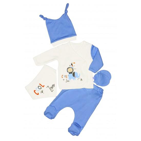 Compleu bebe cinci piese cool zoo albastru