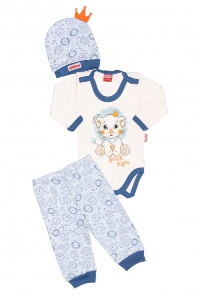 Compleu bebe cikibom leu albastru