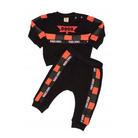 Costum copii doua piese jnf negru-portocaliu