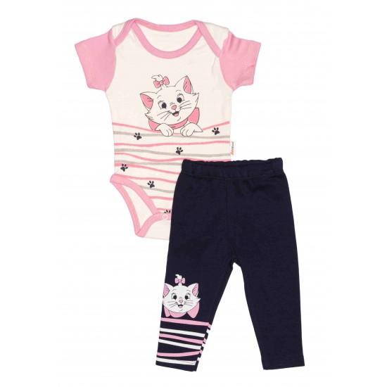 Compleu bebe babywood pisicuta marie roz-bleumarin