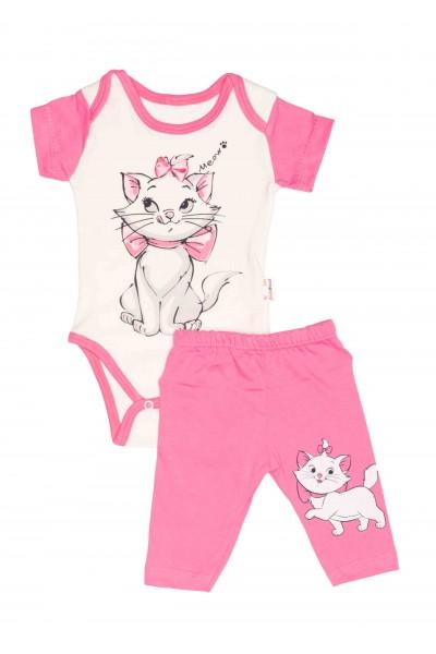 Compleu bebe babywood pisicuta marie roz