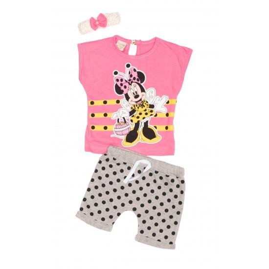 Compleu fete TeyM Baby Minnie roz