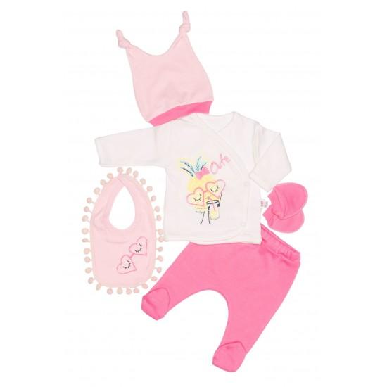 compleu bebe bumbac minizey roz