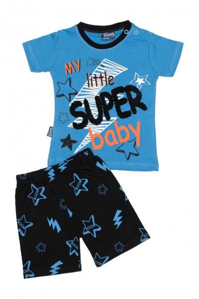 compleu baieti super-baby albastru