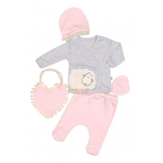 compleu bebe bumbac oita roz pal