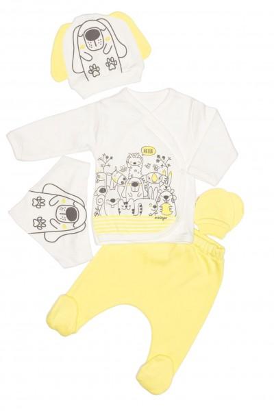 compleu bebe bumbac minizey galben
