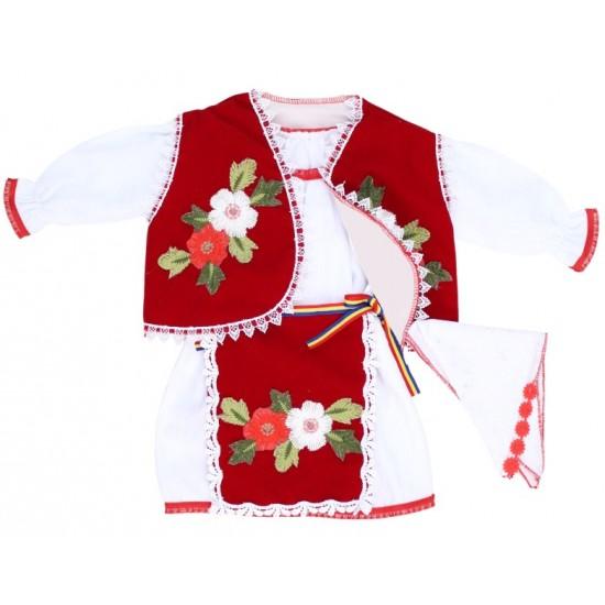 costum national fetita catifea