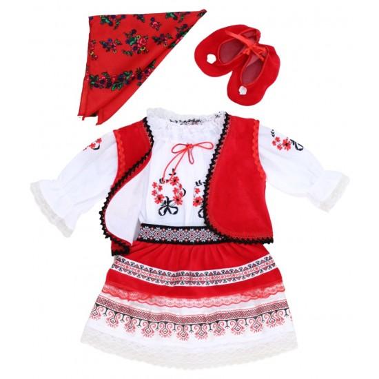 Costum national fetita cu vesta