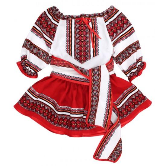 Costum traditional fetita