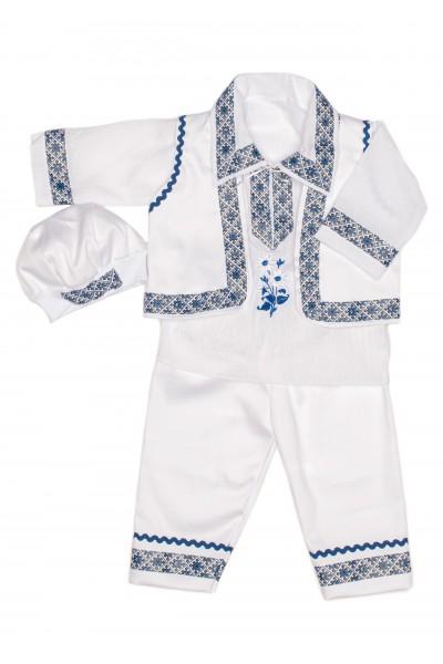 Costum national baiat albastru