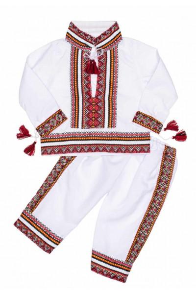 Costum traditional baieti rosu