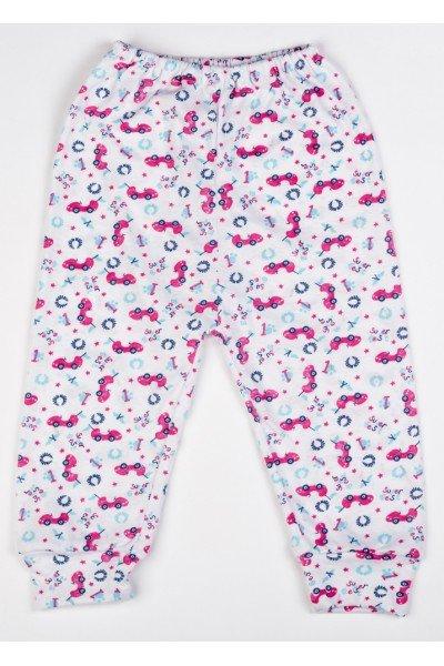Pantaloni de casa subtire ADONIS KIDS cu imprimeu roz