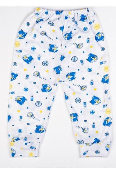 Pantaloni de casa subtire Adonis Kids angry birds albastru
