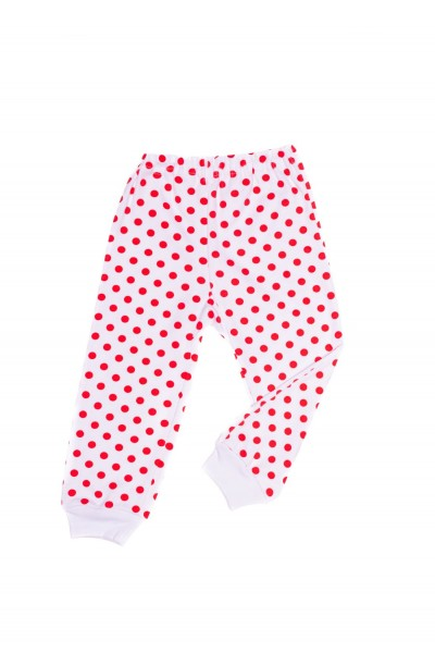 pantaloni casa azuga imprimeu buline rosii
