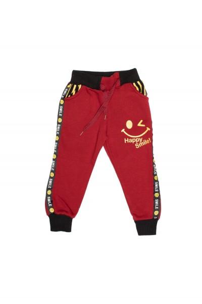 pantaloni copii smile grena
