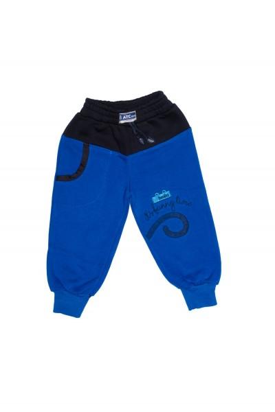 pantaloni copii atc albastru electric