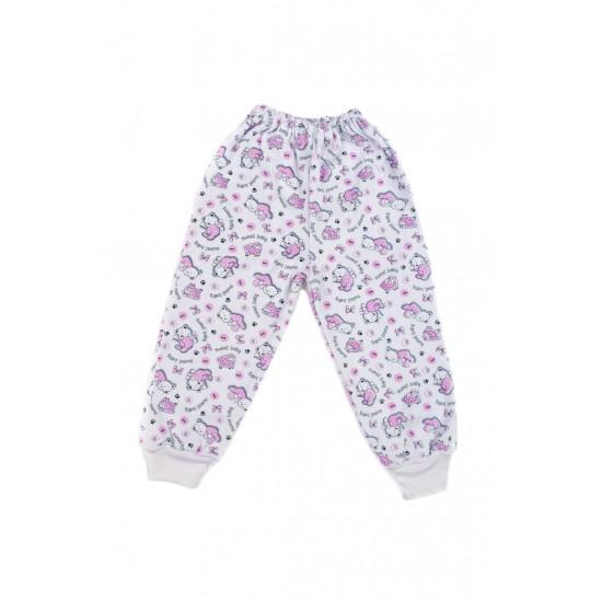 Pantaloni casa azuga ursuleti roz