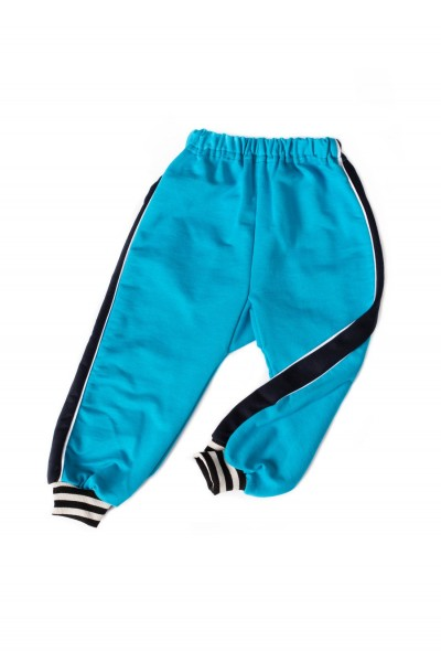 Pantaloni trening azuga turqoise insert bleumarin
