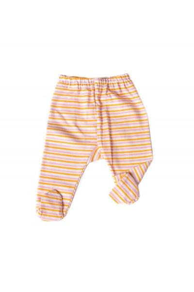 pantalon botosel azuga imprimeu dungi portocali
