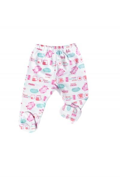 pantalon botosel azuga imprimeu pisici roz