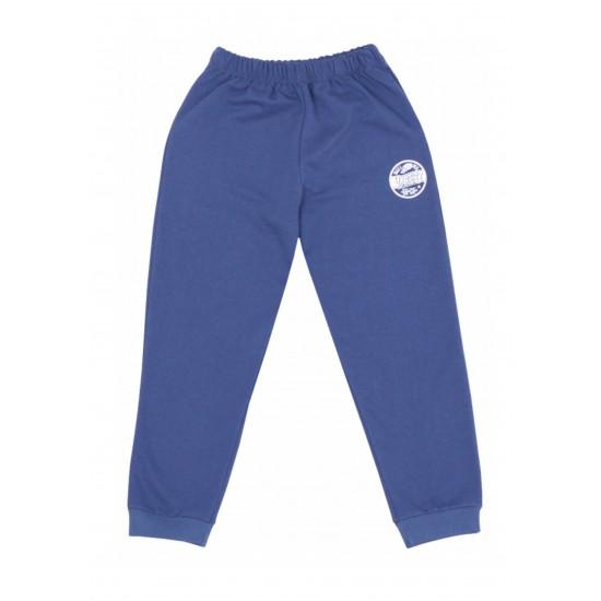Pantaloni trening subtire kara albastru inchis