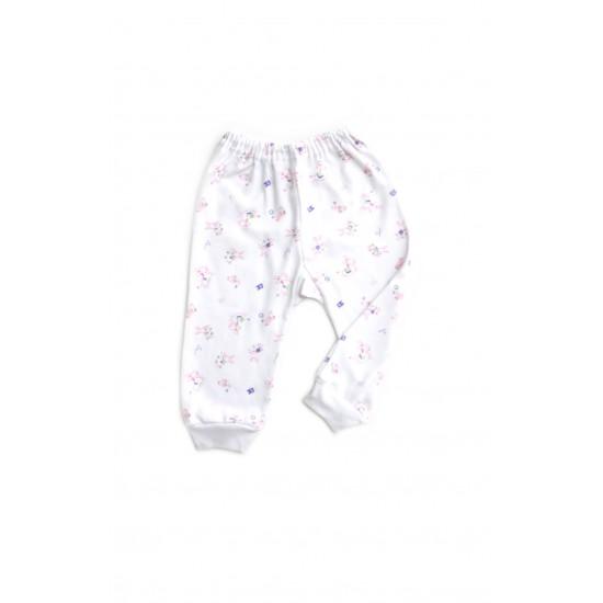 pantaloni casa azuga imprimeu animalute roz
