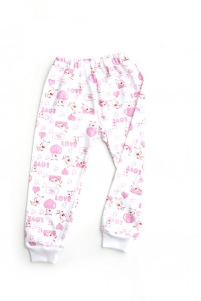 pantaloni casa azuga imprimeu love