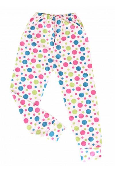 pantaloni casa bumbac subtire adonis buline colorate