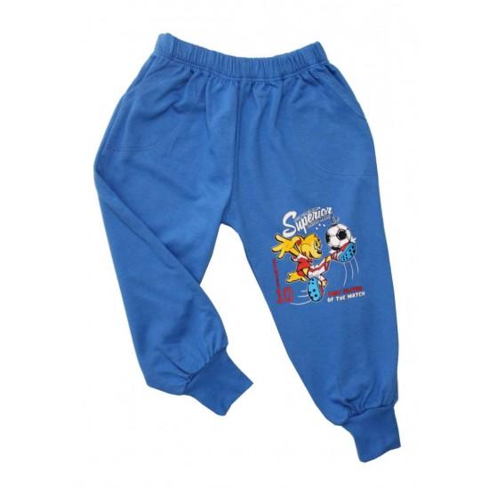 Pantaloni baieti fotbalist albastru