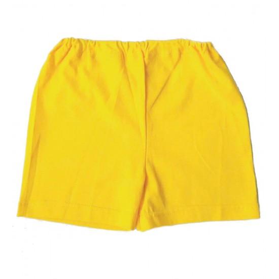 Pantaloni scurti bebe bumbac iris galben