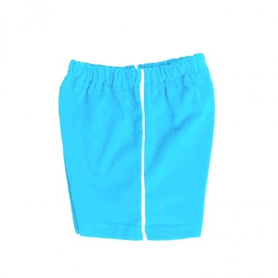pantaloni bebe scurti bumbac azuga azur