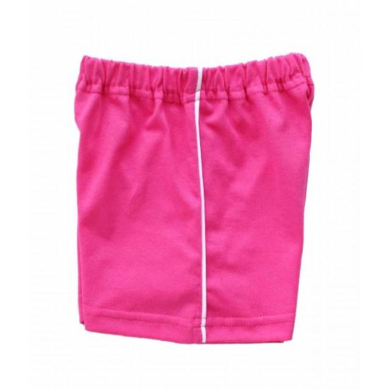 pantaloni bebe scurti bumbac azuga roz