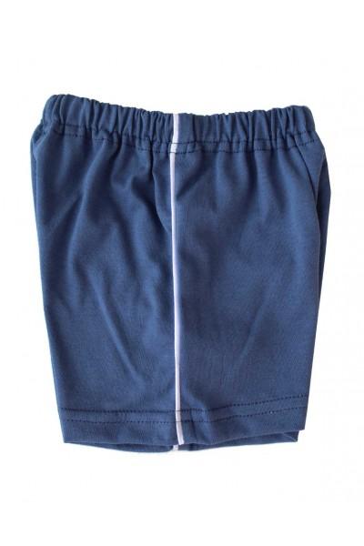 pantaloni bebe scurti bumbac azuga albastru inchis